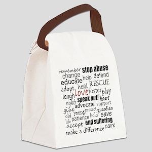WORDS copy Canvas Lunch Bag
