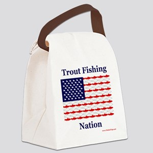 trout nation Canvas Lunch Bag