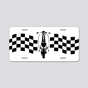 Vintage Scooter on oblong checks design Aluminum L