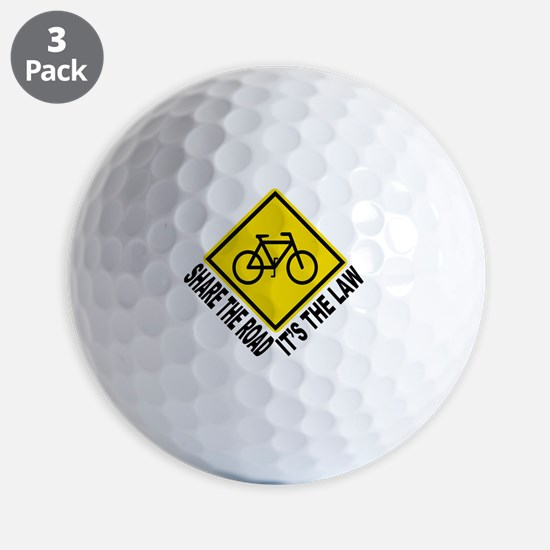 Share the road - its the law Golf Ball