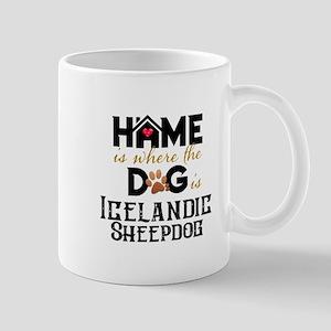 Home is where the dog is Icelandic Sheepdog Mugs