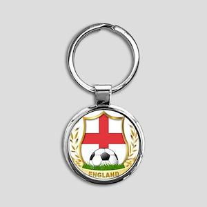 4-england Round Keychain