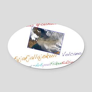 Volcano Tee Oval Car Magnet