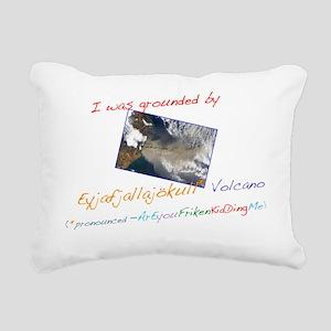 Volcano Tee Rectangular Canvas Pillow