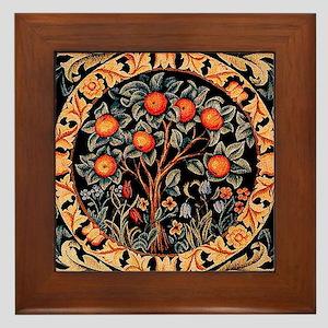 Orange Tree of Life by William Morris  Framed Tile