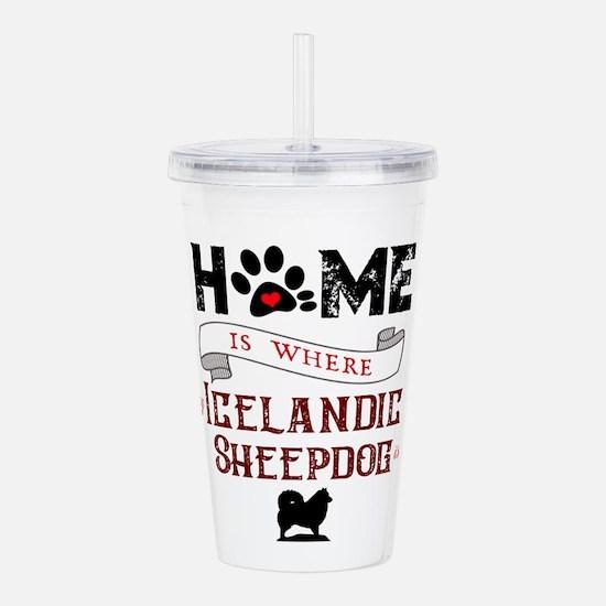 Home is where my Icelandic Sheepdog is Acrylic Dou