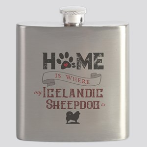 Home is where my Icelandic Sheepdog is Flask