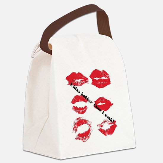 ikissbetterthanicook Canvas Lunch Bag