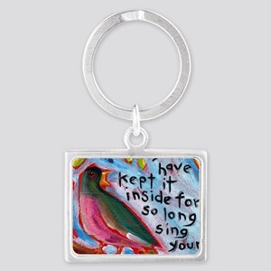 your song Landscape Keychain