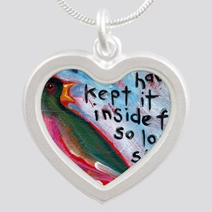 your song Silver Heart Necklace