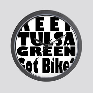 Keep Tulsa Green Got Bike Wall Clock
