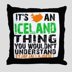 Iceland Thing Throw Pillow