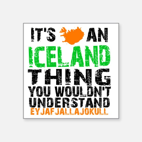 """Iceland Thing Square Sticker 3"""" x 3"""""""