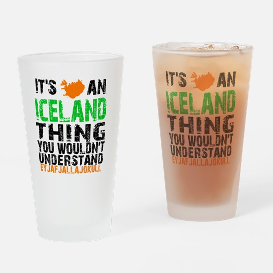 Iceland Thing Drinking Glass