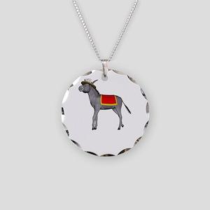T0035B-DonkeyToRiver-2000x20 Necklace Circle Charm