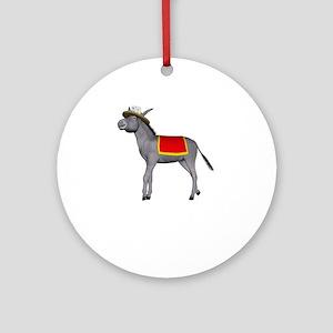 T0035B-DonkeyToRiver-2000x2000 Round Ornament