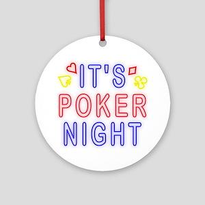 T0083B-PokerNight-2000x2000 Round Ornament