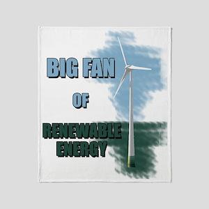 big fan Throw Blanket