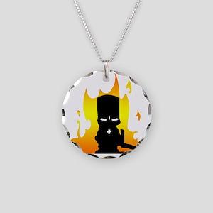 CC T shirt Necklace Circle Charm