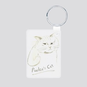 Pavlovs Cat Aluminum Photo Keychain