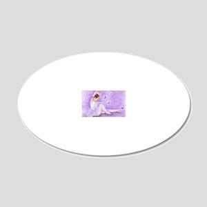 balletdepapillon 20x12 Oval Wall Decal