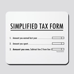 Simplified Tax Mousepad