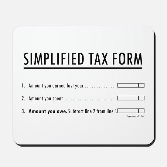 Simplified Tax Mousepad