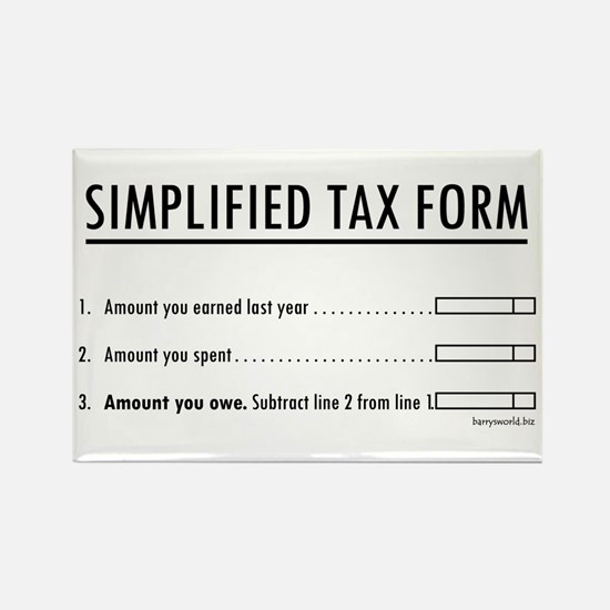 Simplified Tax Rectangle Magnet (10 pack)