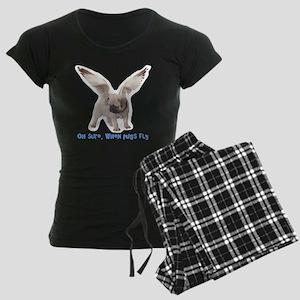 When Pugs Fly Women's Dark Pajamas