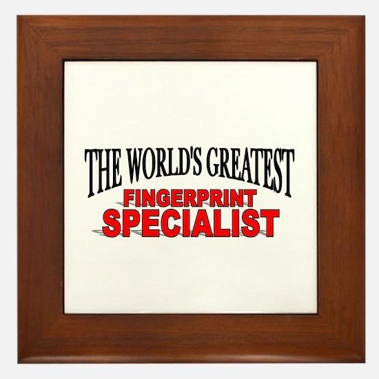 """""""The World's Greatest Fingerprint Specialist"""" Fram"""