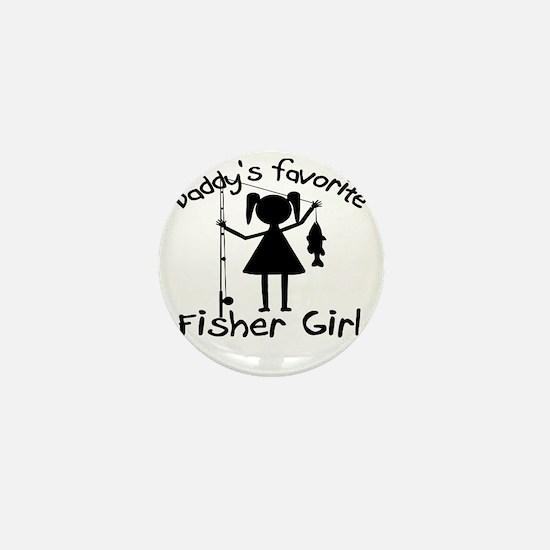 daddys little fisher girl 4 white Mini Button