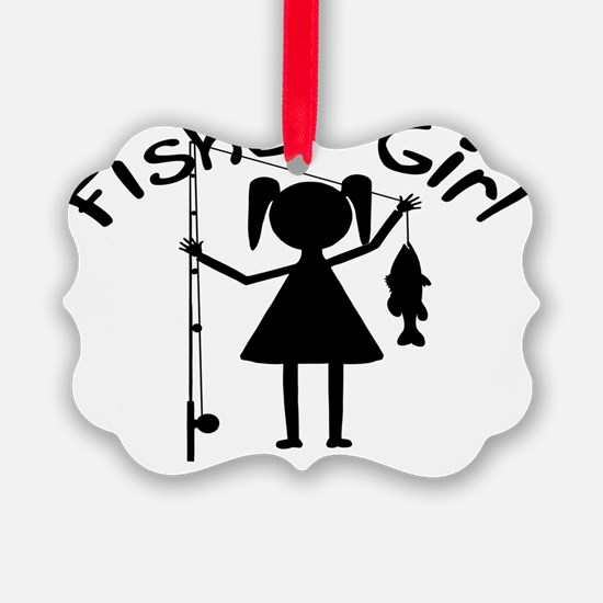 fisher girl 4 white Ornament