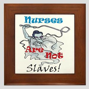 Slaves2 Nurses10x10 Framed Tile