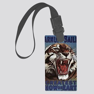 Vintage Circus Tiger Large Luggage Tag