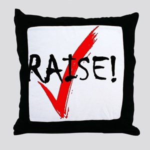 check_raise_bl Throw Pillow