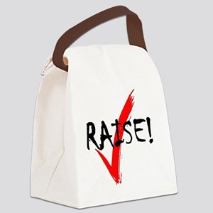 check_raise_bl Canvas Lunch Bag