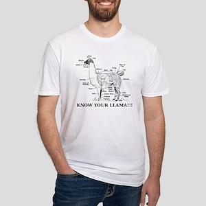 925746_10477594_llama_orig Fitted T-Shirt