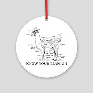 925746_10477594_llama_orig Round Ornament