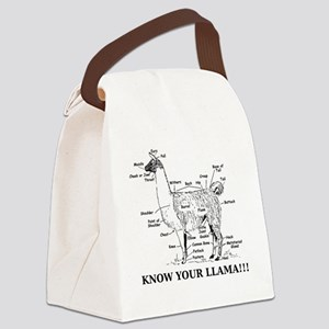 925746_10477594_llama_orig Canvas Lunch Bag