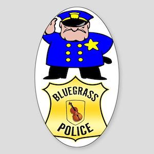 Bluegrass Police Sticker (Oval)