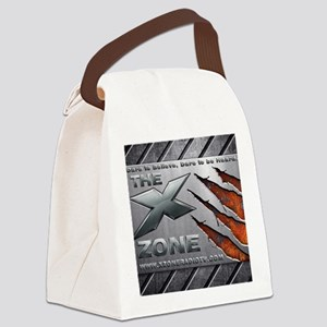 The X Zone Steel Plate Claw_8x7_3 Canvas Lunch Bag