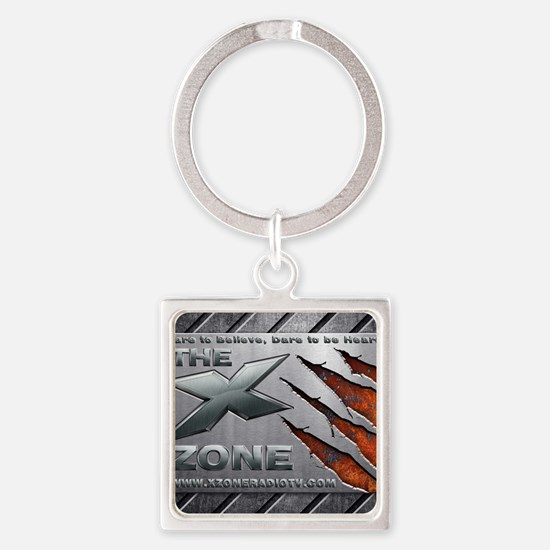 The X Zone Steel Plate Claw_8x7_30 Square Keychain