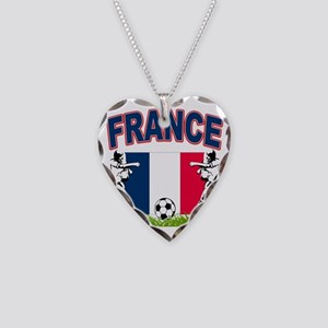 4-france Necklace Heart Charm