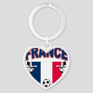 4-france Heart Keychain