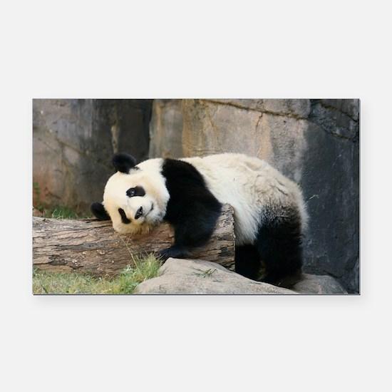 panda1 Rectangle Car Magnet