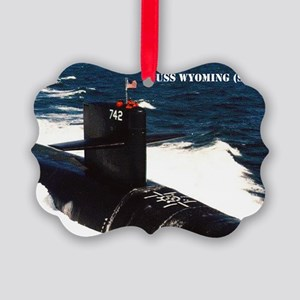wyoming sticker Picture Ornament