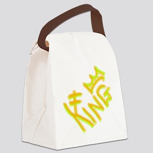 label_king_yellow Canvas Lunch Bag