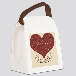 feedthebirds heart ornament Canvas Lunch Bag