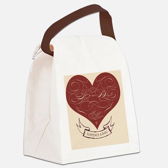 feedthebirds heart ornament Canvas Lunch Bag