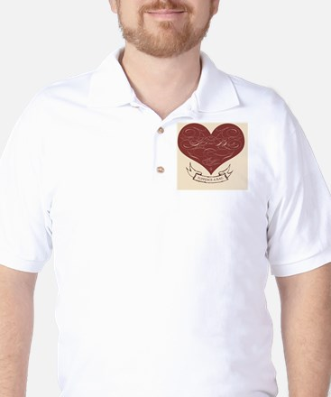 feedthebirds heart ornament Golf Shirt